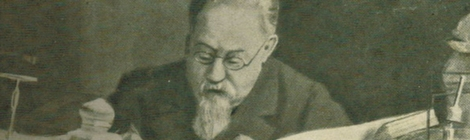 Retrato de Cesare Lombroso.